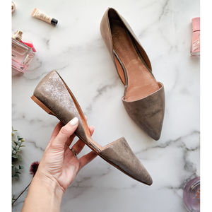 MADEWELL The Lydia #E0195 leather metallic flat